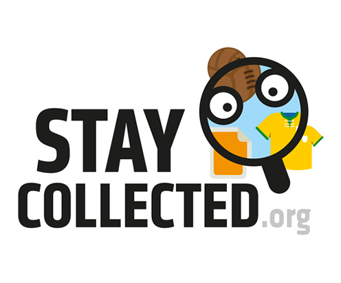 stay collected, logo by vimercati grafica